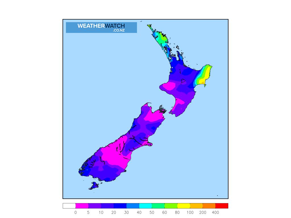 Accumulative rainfall for 6:00am on Fri 14 August 2020