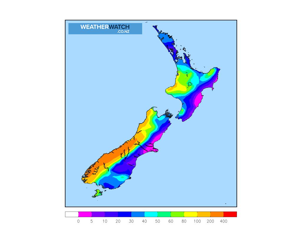 Accumulative rainfall for 7:00am on Sun 27 September 2020
