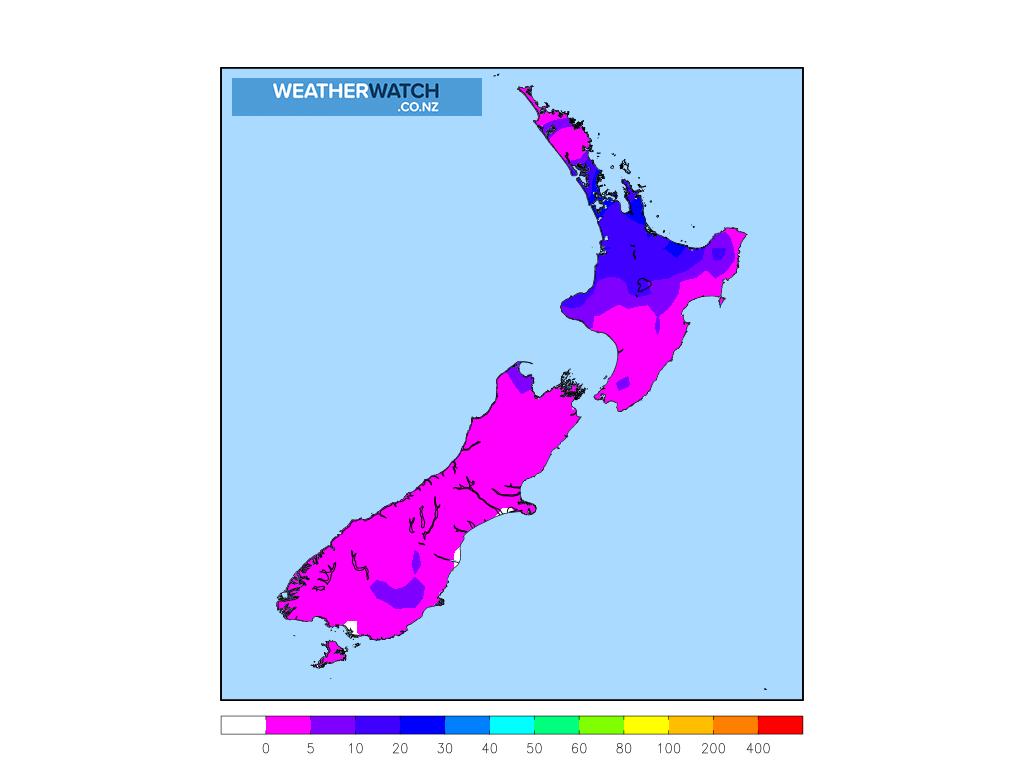 Accumulative rainfall for 7:00am on Tue 24 November 2020