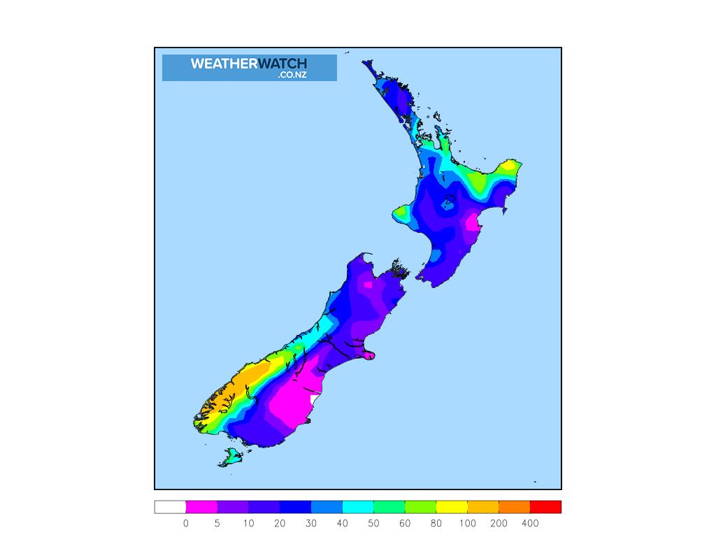 Accumulative rainfall for 6:00am on Fri 23 April 2021