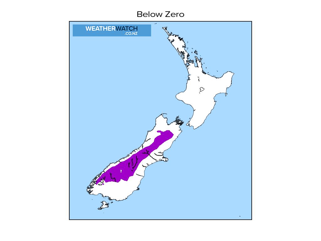 Below zero for 12:01am on Tue 22 June 2021