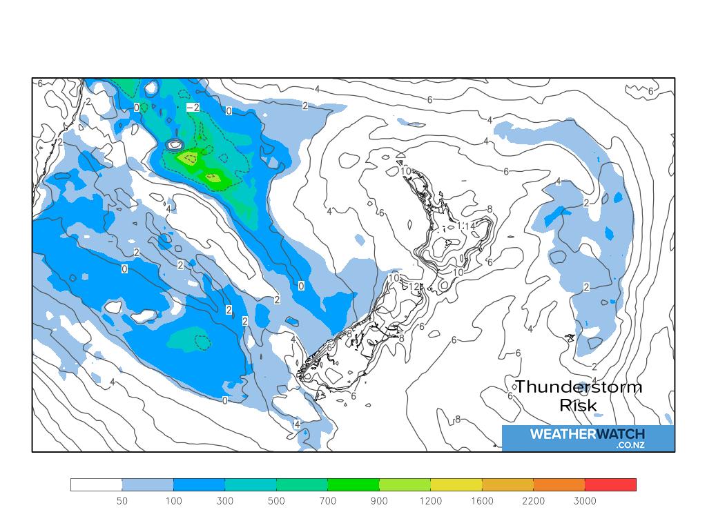Thunderstorm risk for 6:01am on Tue 21 September 2021