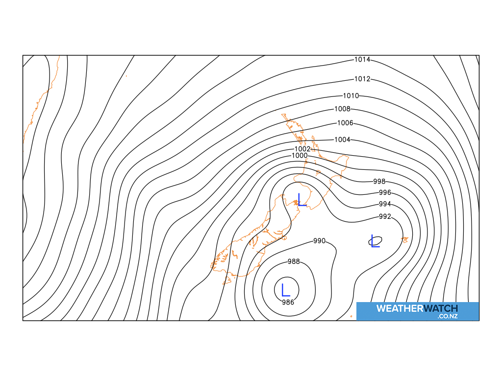 Mean sea level pressure for 6:00am on Tue 7 July 2020