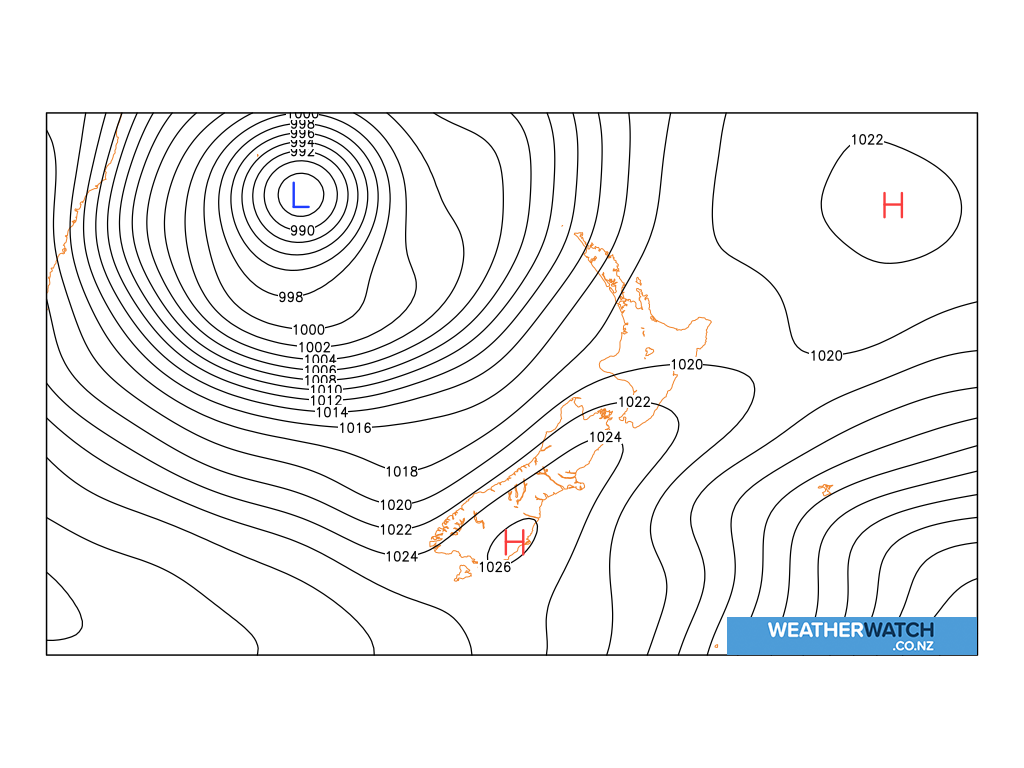 Mean sea level pressure for 6:00am on Wed 15 July 2020
