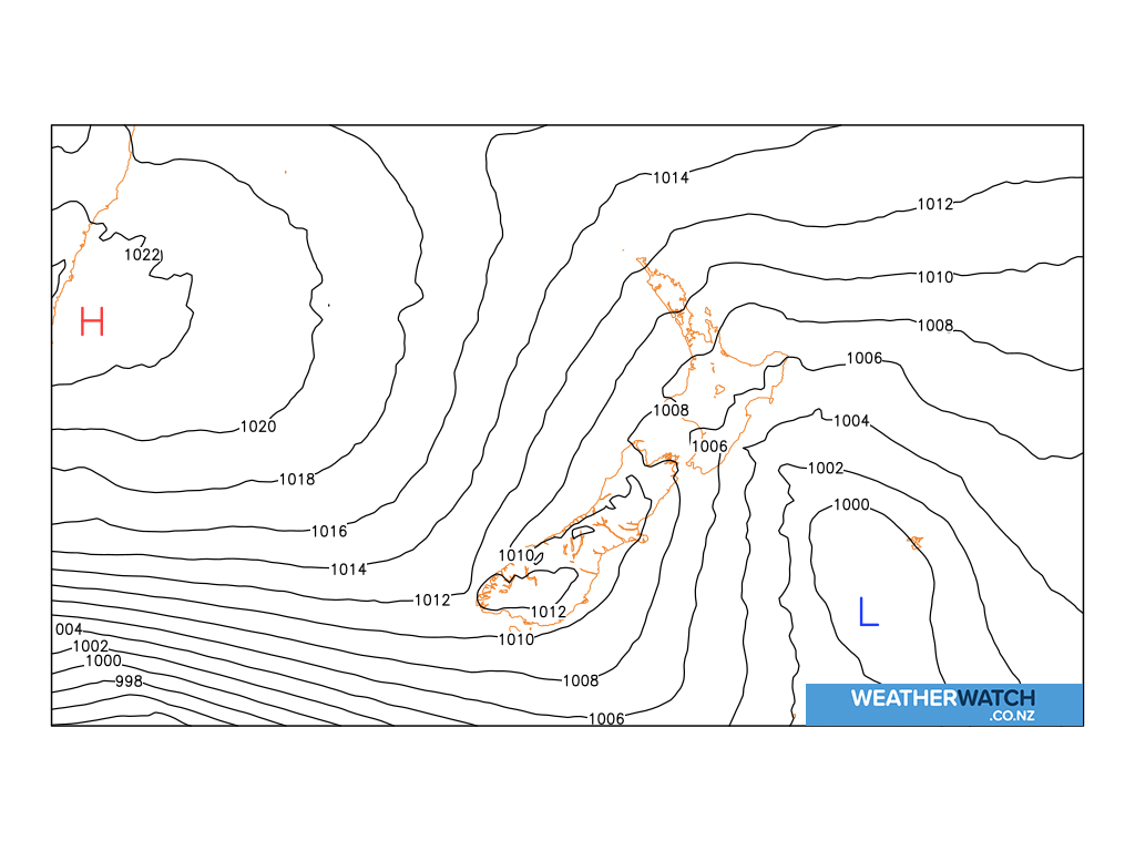 Mean sea level pressure for 6:00am on Sat 17 April 2021