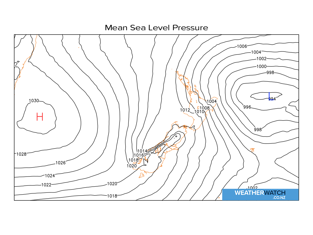 Mean sea level pressure for 6:01am on Tue 22 June 2021