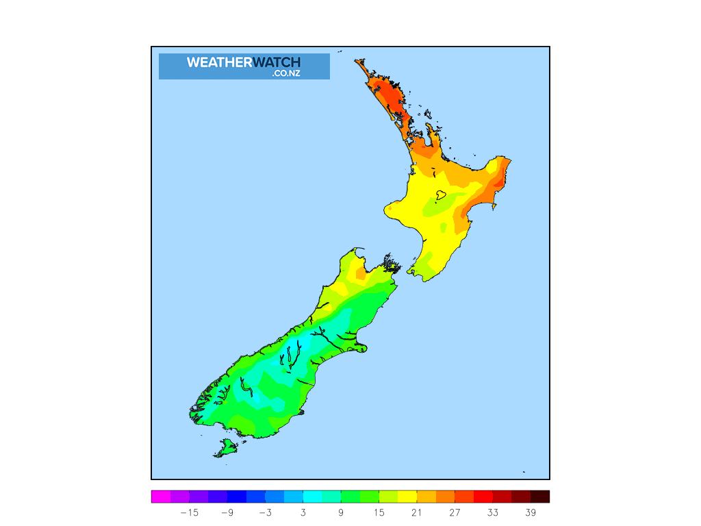 Maximum temperature for 1:00pm on 4 March 2020