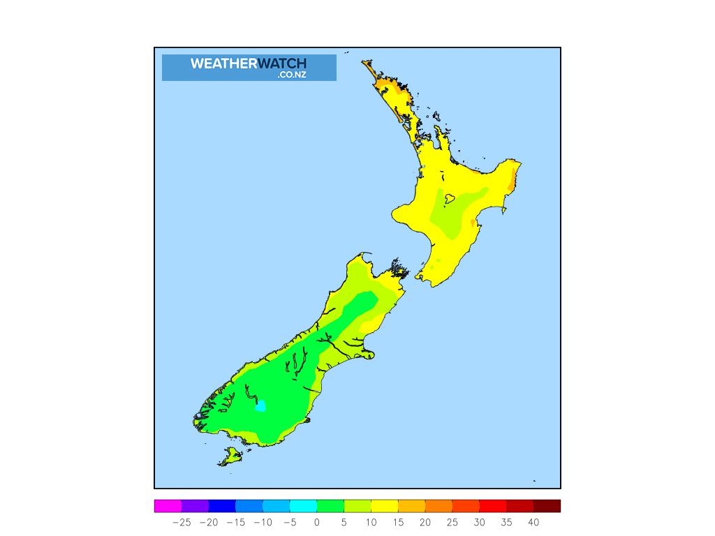 Maximum temperature for 12:00pm on Sat 6 June 2020