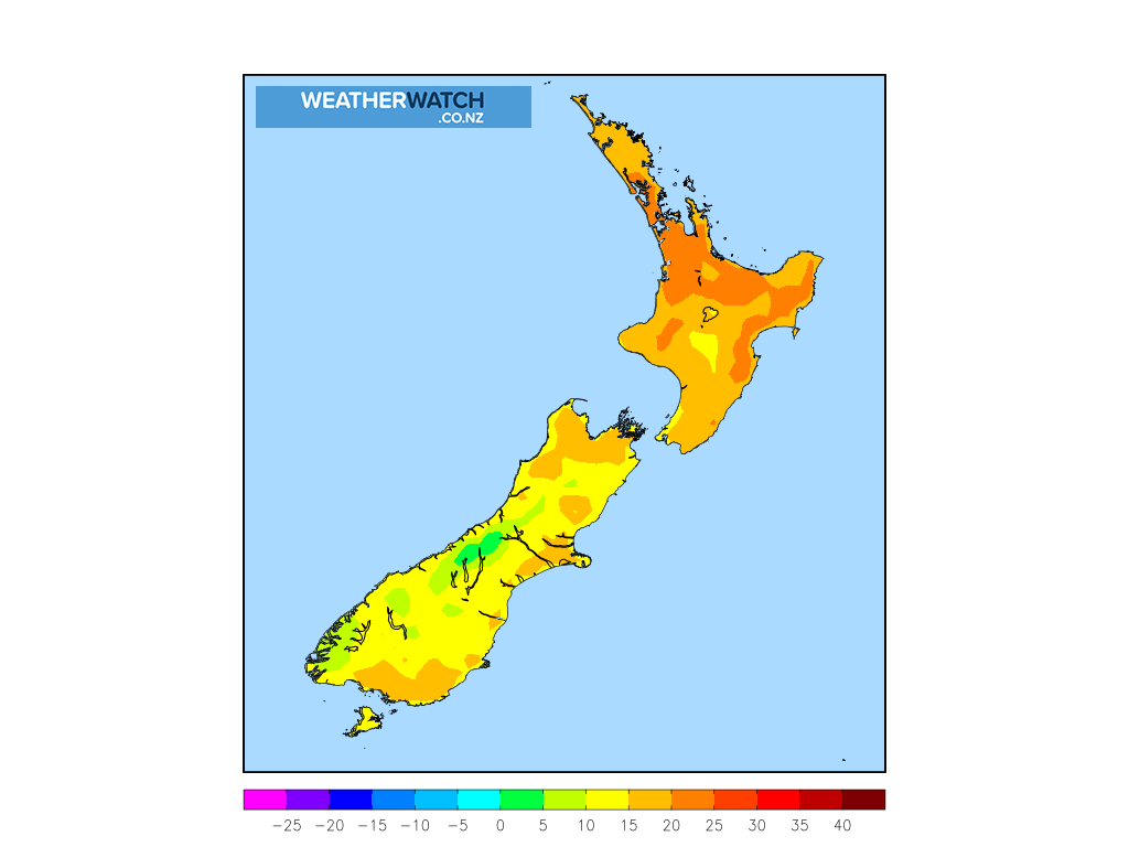 Maximum temperature for 1:00pm on Thu 22 October 2020