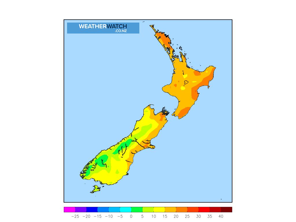 Maximum temperature for 1:00pm on Thu 3 December 2020