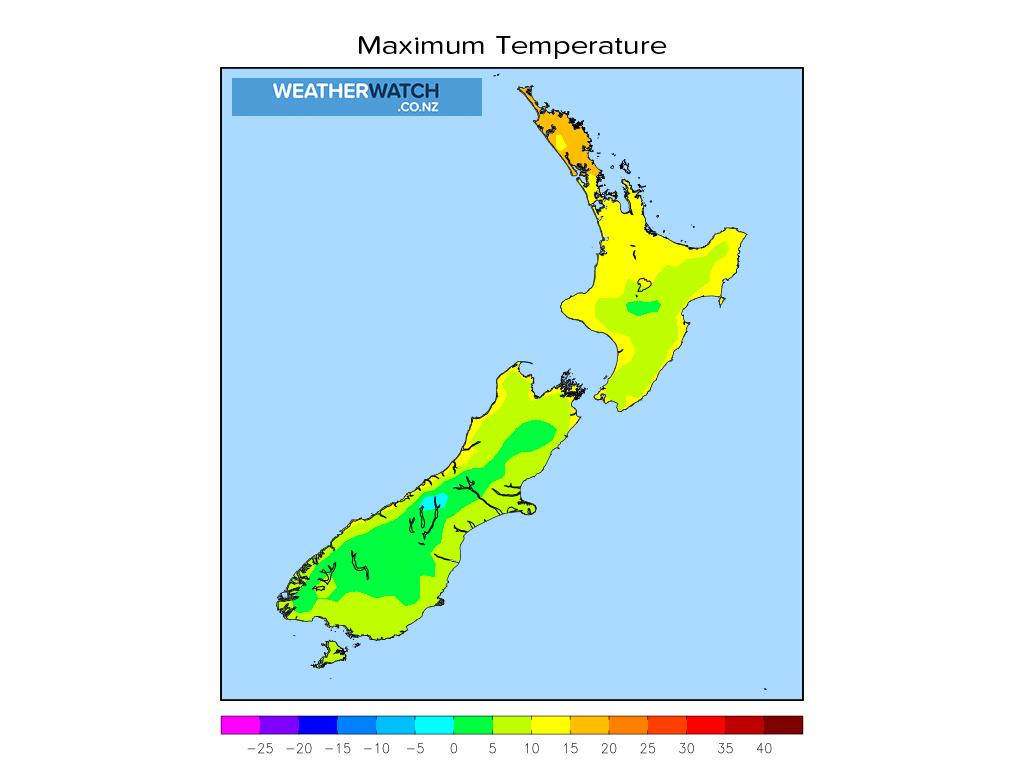 Maximum temperature for 12:01pm on Tue 22 June 2021