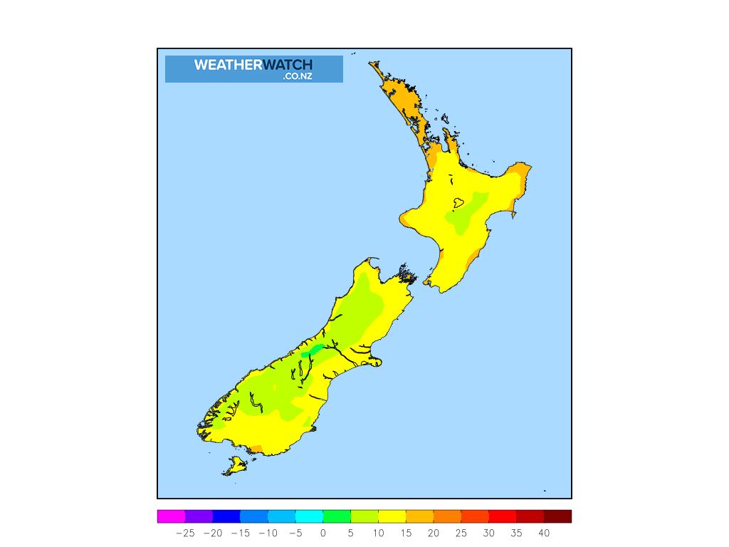 Minimum temperature for 1:00am on Tue 26 January 2021