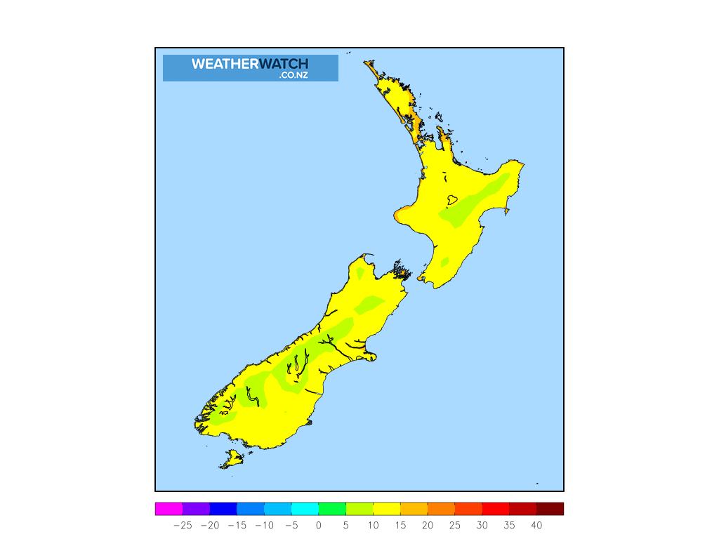 Minimum temperature for 1:00am on Sat 27 February 2021