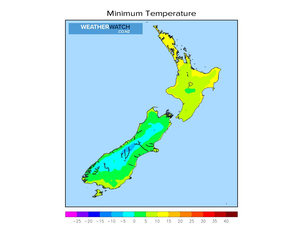 Minimum temperature for 12:01am on Tue 22 June 2021