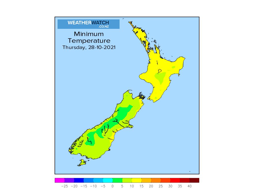 Minimum temperature for 1:01am on Thu 28 October 2021