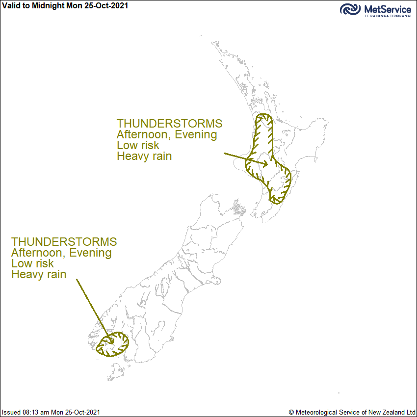 Thunderstorm Outlook for New Zealand